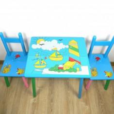 Masuta cu scaunele lemn Vaporas