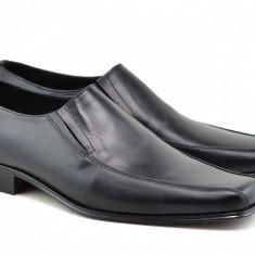 Pantofi barbati eleganti din piele naturala, cu elastic - STD351EL