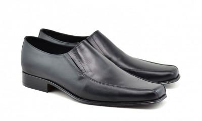 Pantofi barbati eleganti din piele naturala, cu elastic - STD351EL foto