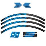 Kit sticker bicicletă albastru, Rockrider
