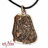 Pandantiv bronz Piatra cu Rune