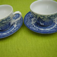 Portelan englezesc CHURCHILL, 2 frumoase cesti de cafea