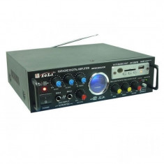 Statie amplificare karaoke cu MP3 si radio AV-339FM, stereo, alimentare 12 v si 220 V