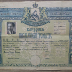 Diploma de bacalaureat teoretic// 1945, perioada Mihai I