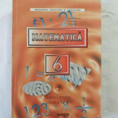 Matematica - Manual pentru clasa a VI-a - Editura Radical 2004