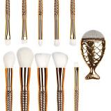 Set 11 pensule machiaj Mermaid Gold Fusion Limited Edition