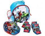 Set accesorii protectie bicicleta role trotineta Saica Avengers