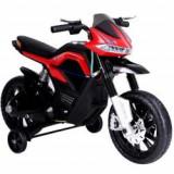 Motocicleta electrica pentru copii, cu roti ajutatoare JT5158