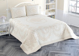Cumpara ieftin Cuvertură de pat Valentini Bianco Piquet, model Bella Beige