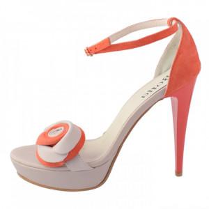 Sandale dama, din piele naturala, Botta, 147-37, corai