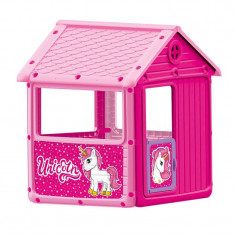 Casuta pentru copii Dolu Unicorn, 3 geamuri si o usa cu clapa