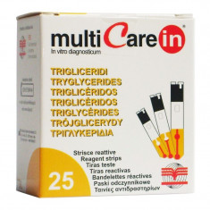 Teste trigliceride pentru aparatul Multicare-IN, 25 teste/cutie