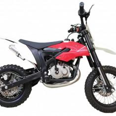"Motocicleta Cross Copii KXD Pro 706C - 49cc 2T Roti 10"" Culoare Negru/Rosu Cod Produs: MX_NEW 8011BR"