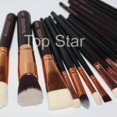 Set complet 20 pensule machiaj profesionale Black Golden