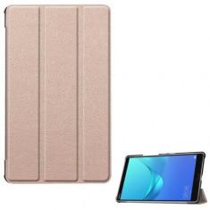 Husa Book Cover Gigapack GP-76312 pentru tableta Huawei MediaPad M5 10inch (Roz/Auriu)