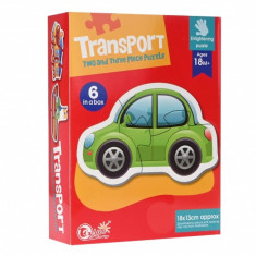 Puzzle Transport, cu 2 si 3 piese - 88063