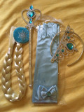 Accesorii bagheta coronita, manusi si coada de Elsa Frozen