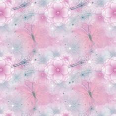Tapet pentru copii netesut roz cu flori Walt Disney