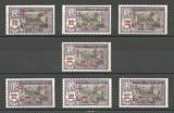 INDIA - ( COLONIE FRANCEZA ) SUPRATIPAR 1943 SERIE COMLETA MNH, Nestampilat