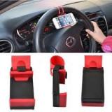 Suport pentru telefon sau GPS, cu prindere pe volan