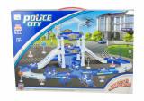 Set circuit politie cu masinute si elicopter - Jucarie circuit cu masini - 3D