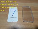 Husa Silicon fata spate  iPhone 7/ 8  calitate si ieftin la pret