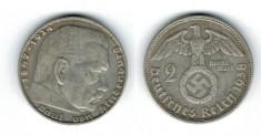 Germania 1938 - 2 Mark D, Ag foto