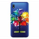 Cumpara ieftin Carcasa Husa Samsung Galaxy A10 model Colorful Tree, Antisoc + Folie sticla securizata Samsung Galaxy A10 Tempered Glass Viceversa