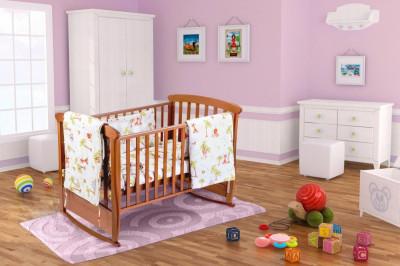 Set pentru patut bebe, cu aparatori, model Jungle Relax KipRoom foto
