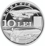 Moneda Argint 100 Ani Corpul Aviatiei Roman