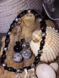 Set din argint cu pietre semiprețioase