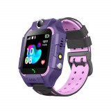 Cumpara ieftin Ceas smartwatch Pentru Copii YQT-Q19W, Mov, Istoric traseu, Localizare GPS, Camera, Lanterna, Pedometru