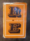 DICTIONAR ROMAN ENGLEZ - LEON LEVITCHI , 1973