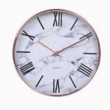 Cumpara ieftin Ceas de perete cu cifre romane, rotund, 30 cm, Pufo