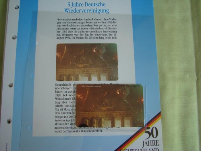 """3 Cartele Telefonice """"50 Jahre Deutschland"""" - Exponate NOI / 19"""