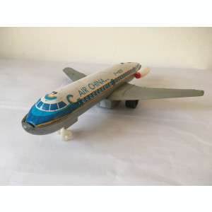 Avion tabla China, anii 80, Air China MF 155, F - 0155, 32 cm lungime, 30 cm lat