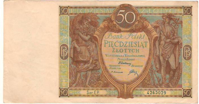 SV * Polonia  50  ZLOTYCH  /  ZLOTI  1929     interbelica     XF+