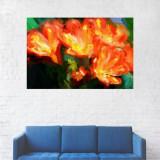 Tablou Canvas, Flori Portocalii - 60 x 90 cm