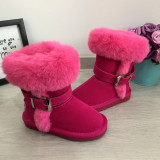 Cizme de iarna imblanite roz mov inalte lungi ugg fete 27 28 29 30 31 GGM, Din imagine