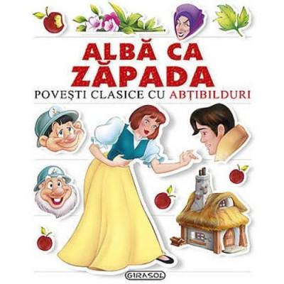 Carte de Povesti Clasice cu Abtibilduri - Alba ca Zapada foto