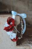 Coroniță de păr lucrată manual din sârmă placată cu argint LHNT008