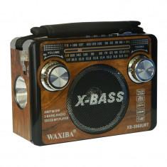 Radio portabil Waxiba XB-3068URT, 3 benzi, lanterna