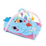 Cumpara ieftin Salteluta de Joaca, LittleDomi,Model Elefant, Interactiva cu 5 Jucarii Detasabile, Albastru, +6 luni