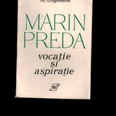 Mihai Ungheanu - Marin Preda, Vocatie si aspiratie