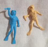 Lot x 2 piese - Jucarie din plastic - Figurina SCAFANDRU - Cutit