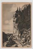 Muntii Bucegi-Cheile Tatarului,(sepia),circulata 1956 Busteni-Ploiesti, Printata
