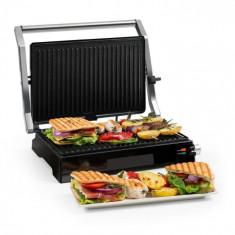Klarstein Buffalo, Contact grill, panini grill, 2000 W, oțel inoxidabil, argintiu / negru