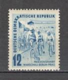 D.D.R.1952 Turul Pacii la ciclism  MD.23, Nestampilat