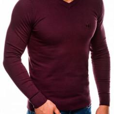 Bluza pentru barbati din bumbac visiniu casual slim fit E74