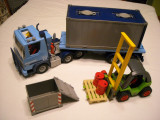 Playmobil 2350 (4447) + 3003 - Container Truck + motostivuitor